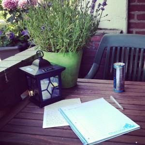 Schrijven op het balkon